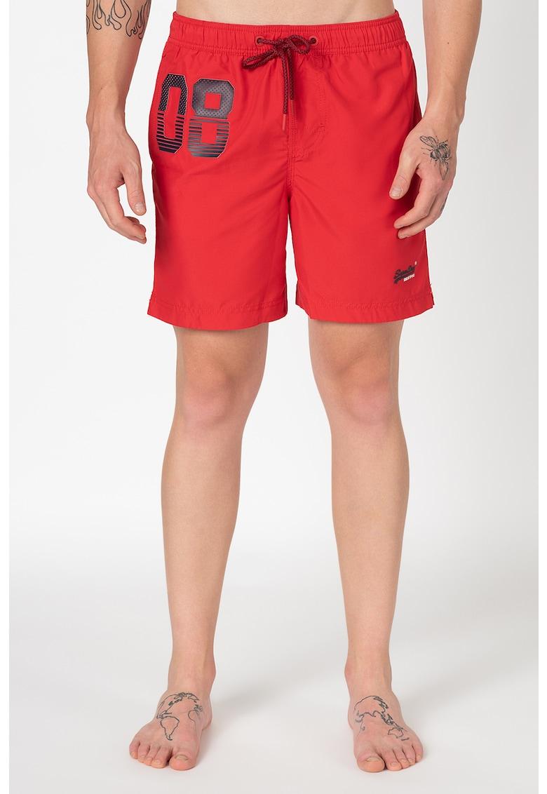 Pantaloni scurti de baie cu snur de ajustare in talie Waterpolo imagine fashiondays.ro