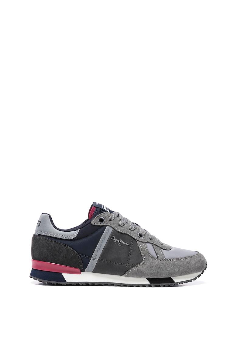 Pantofi sport cu insertii din piele