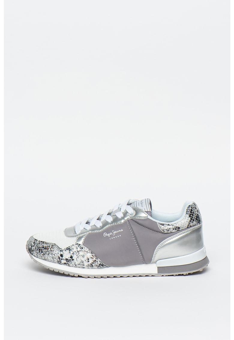 Pantofi sport cu model colorblock si logo 3