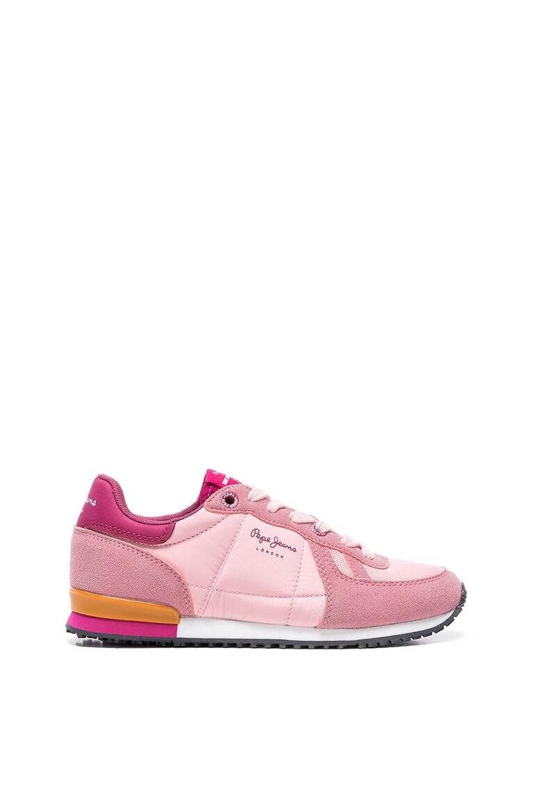 Pantofi sport cu insertii de piele intoarsa sintetica