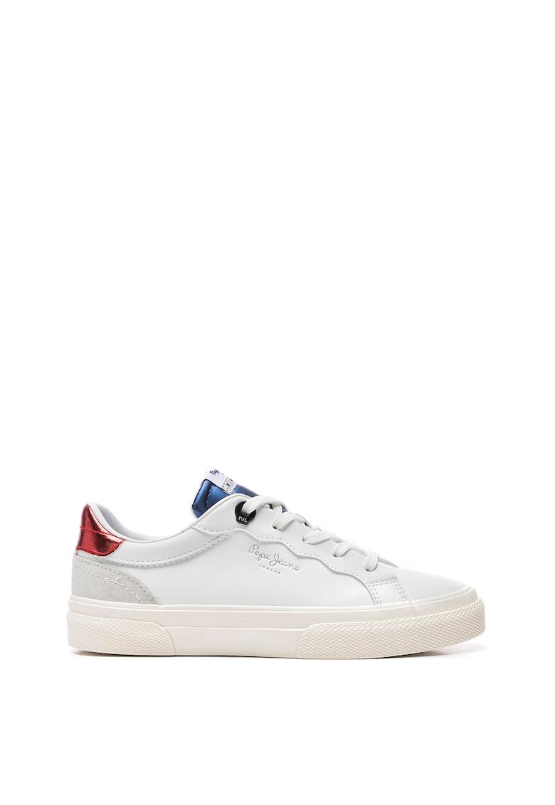 Pantofi sport de piele ecologica cu varf rotunjit imagine fashiondays.ro