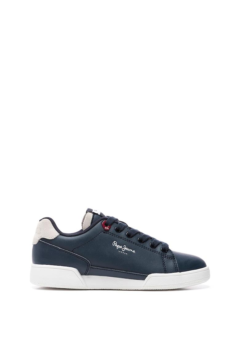 Pantofi sport de piele cu garnituri de piele intoarsa imagine fashiondays.ro