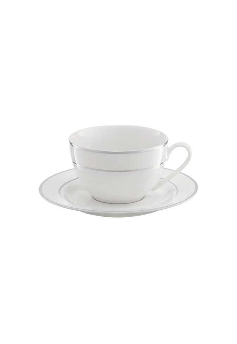 Set cafea Aura Silver - portelan - 12 piese imagine fashiondays.ro 2021