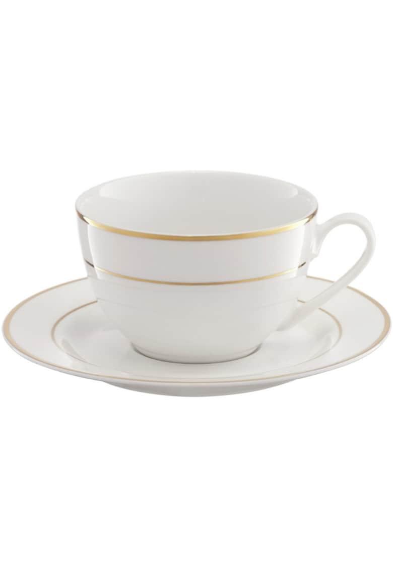 Set cafea Aura Gold - portelan - 12 piese imagine fashiondays.ro 2021