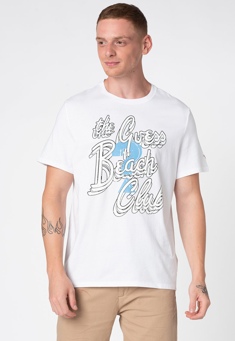 Tricou cu imprimeu logo si text