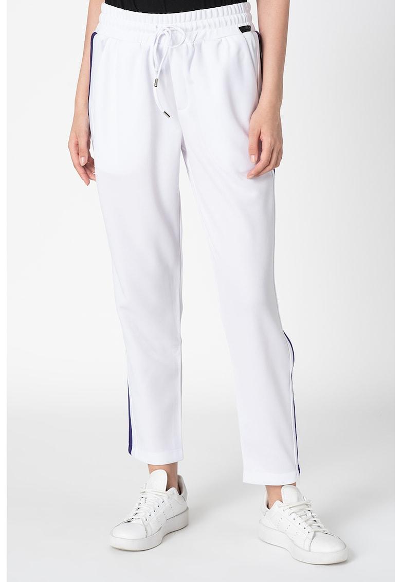 Pantaloni sport catifelati cu snur