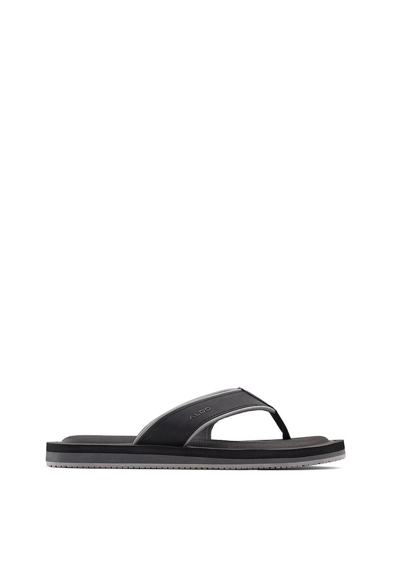 Papuci flip-flop din piele ecologica Norewiel imagine fashiondays.ro