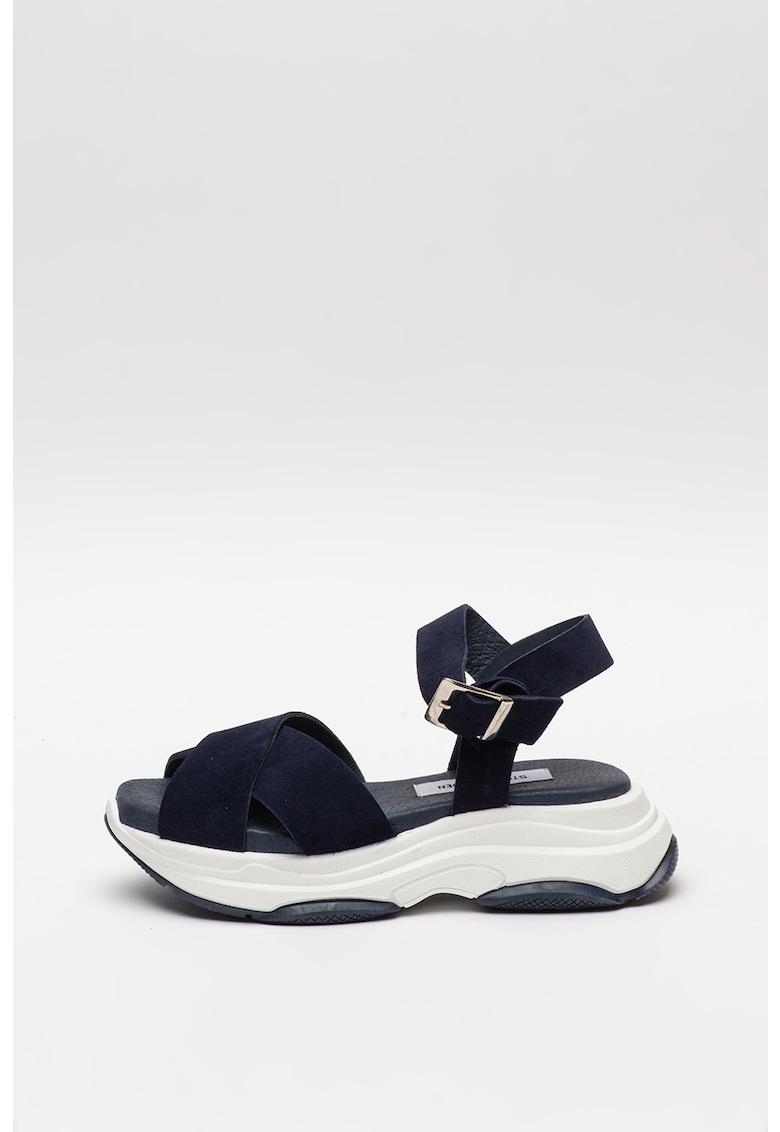 Sandale de piele intoarsa cu barete incrucisate Zommer