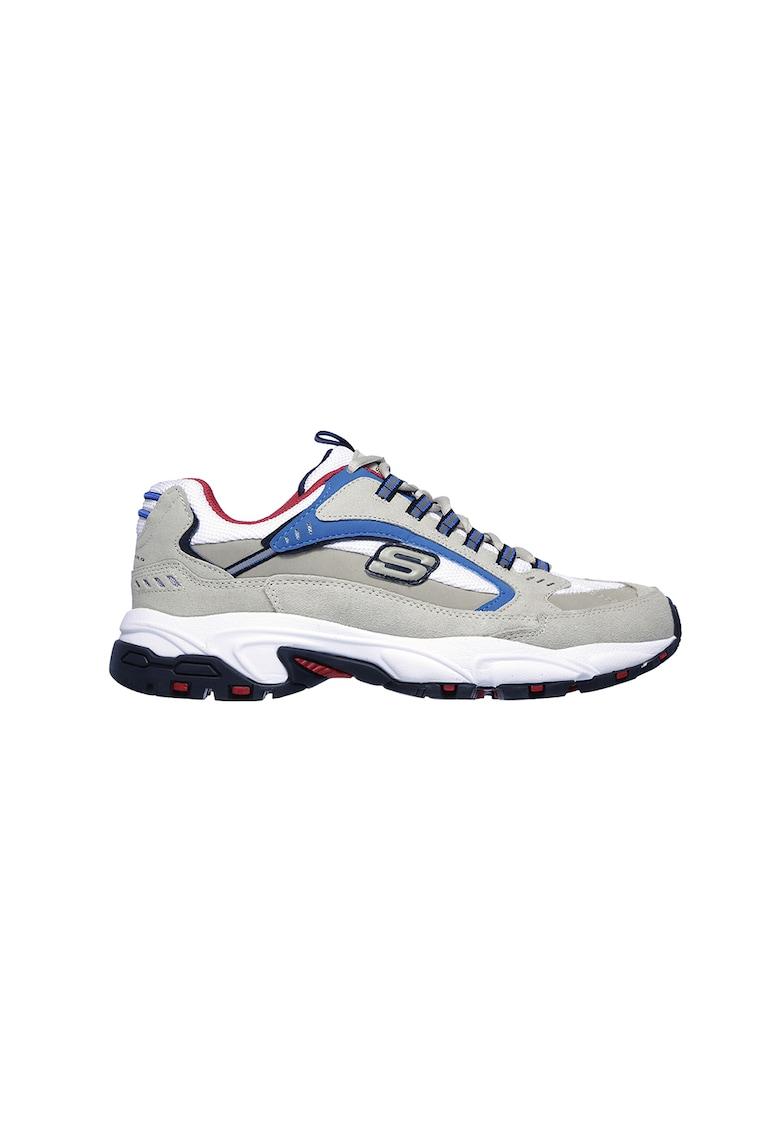 Pantofi sport de piele intoarsa si garnituri de plasa Stamina imagine