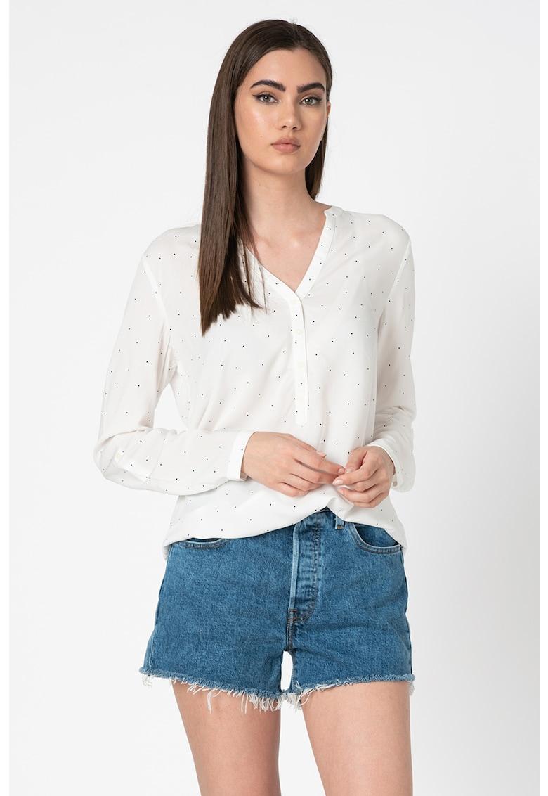 Bluza vaporoasa tip tunica cu buline de la Esprit
