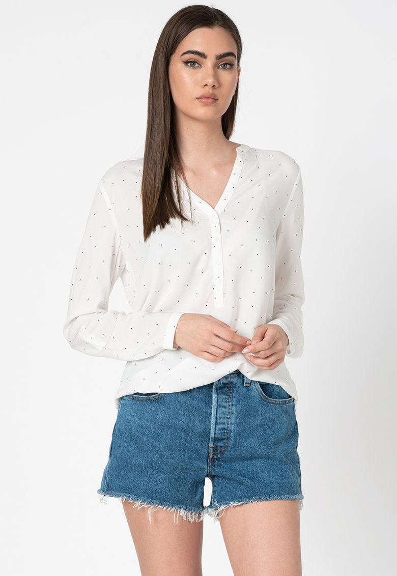 Bluza vaporoasa tip tunica cu buline imagine