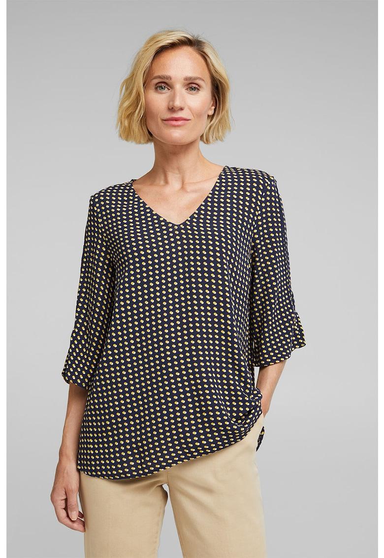 Bluza cu buline si maneci 3/4 imagine fashiondays.ro