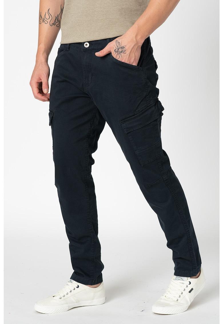 Pantaloni cargo slim fit din amestec de bumbac organic imagine fashiondays.ro