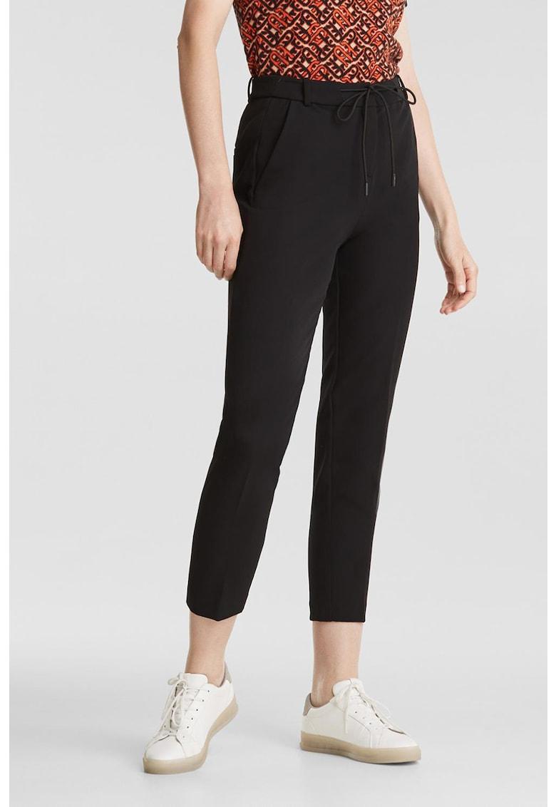 Pantaloni crop conici cu buzunare oblice imagine