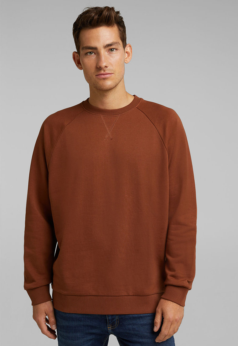 Bluza sport din bumbac organic cu maneci raglan