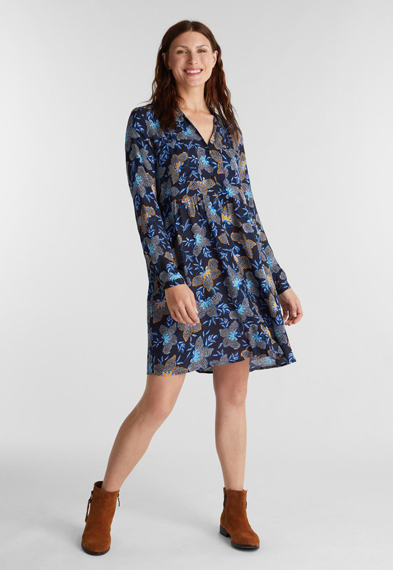 Rochie tip tunica cu buzunare laterale ascunse de la Esprit