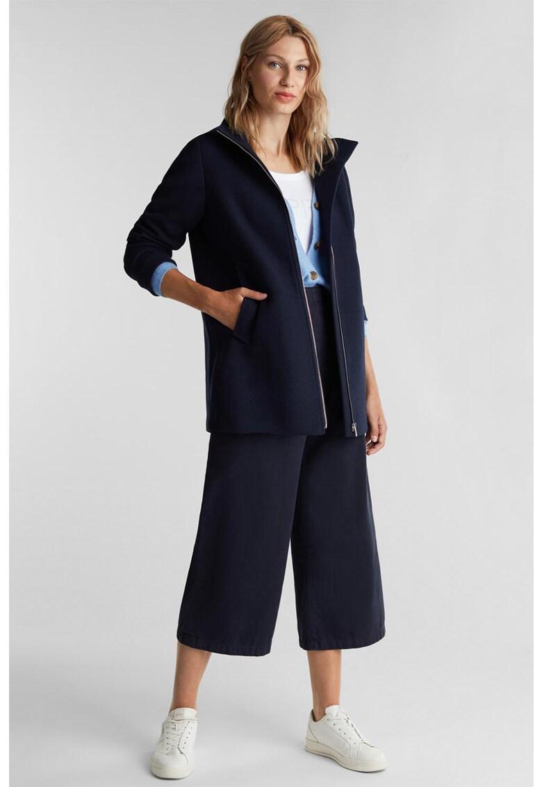 Jacheta din amestec de lana - cu gluga