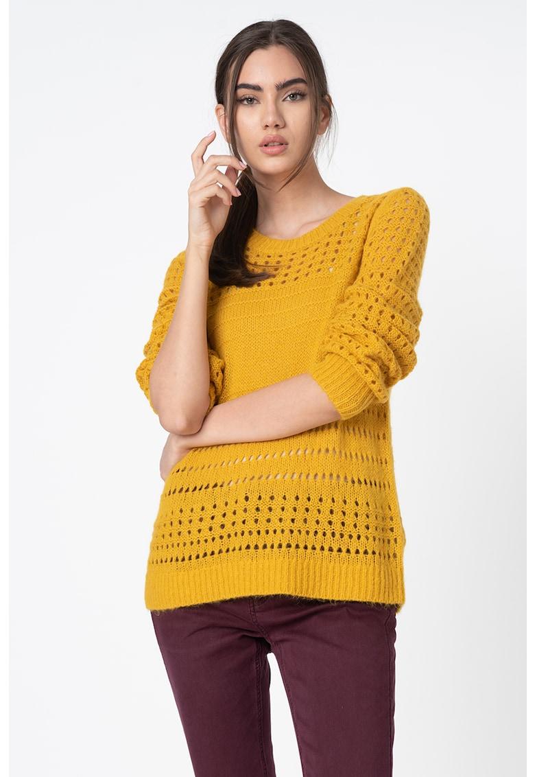 Pulover din amestec de lana cu decupaje imagine fashiondays.ro