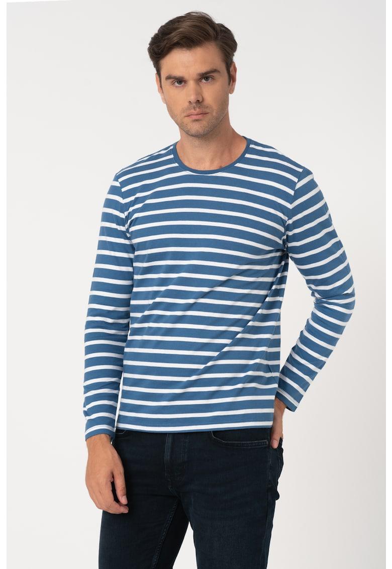 Bluza din bumbac organic - cu model in dungi imagine fashiondays.ro