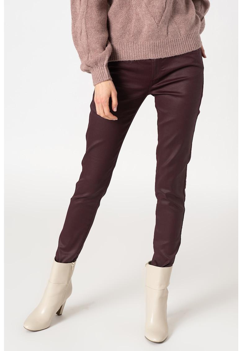 Pantaloni skinny cu aspect peliculizat de la EDC by Esprit