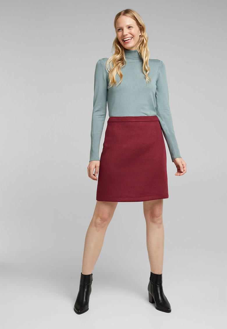 Fusta mini din amestec de lana imagine fashiondays.ro