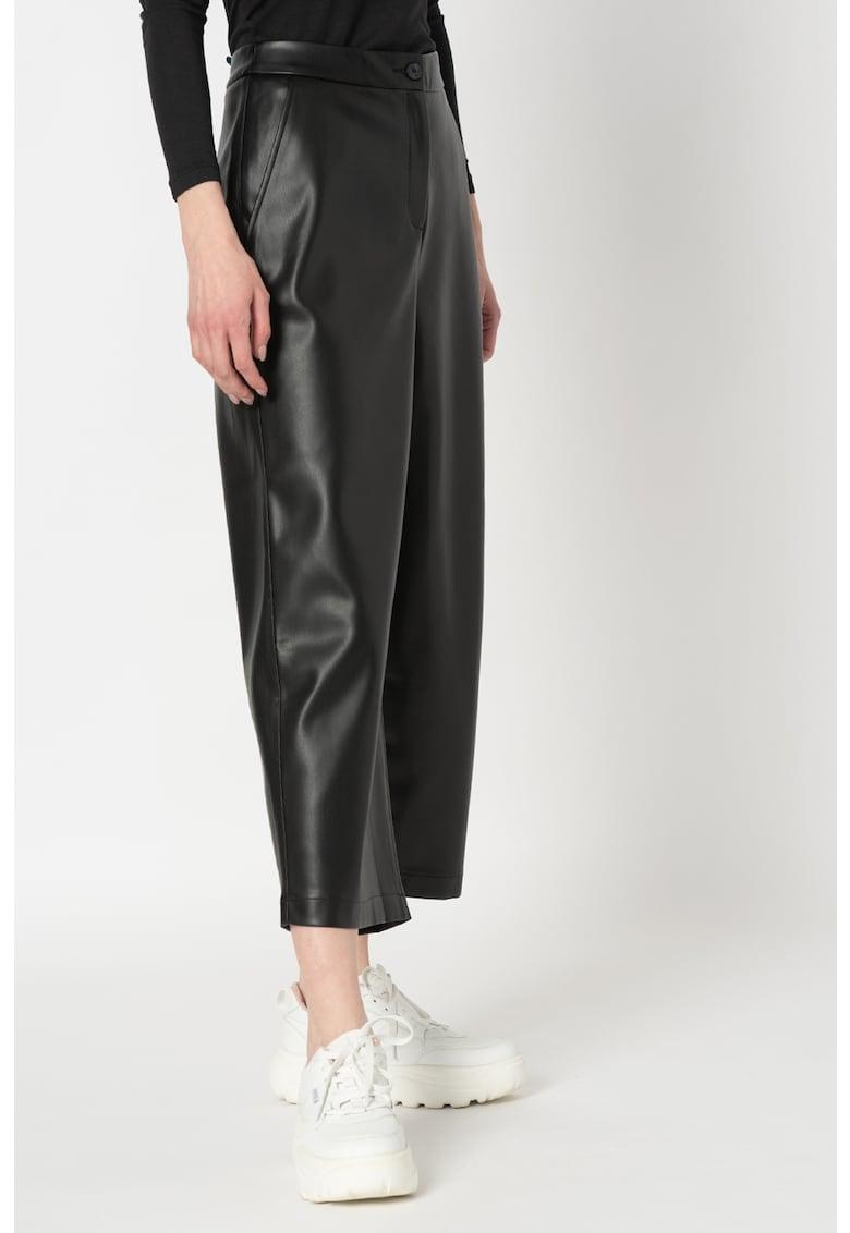 Pantaloni culotte de piele ecologica