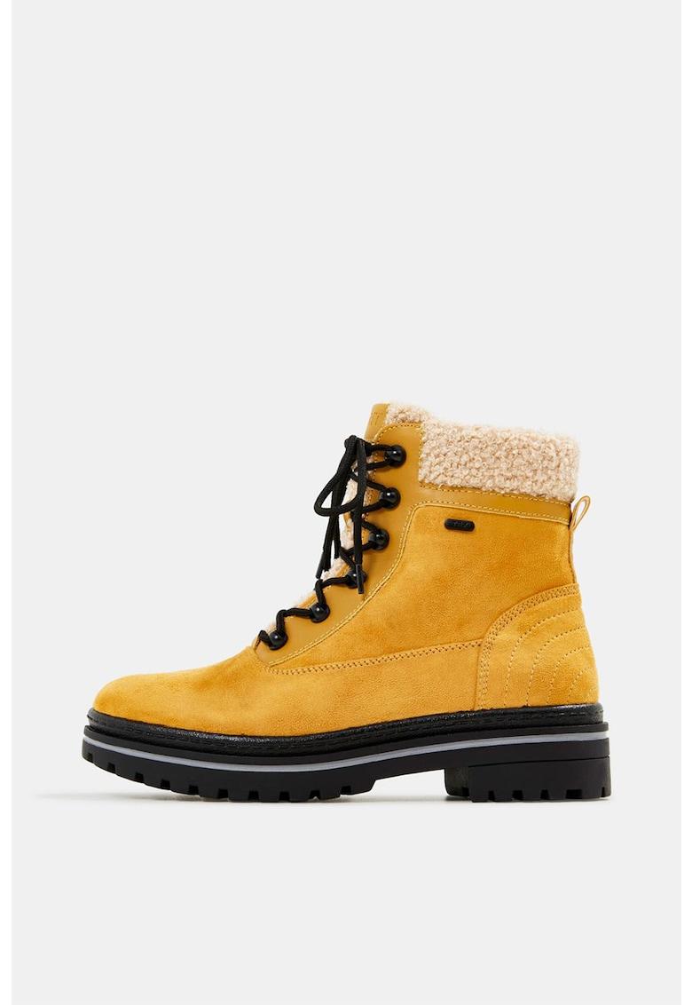 Ghete de iarna din piele intoarsa ecologica imagine fashiondays.ro