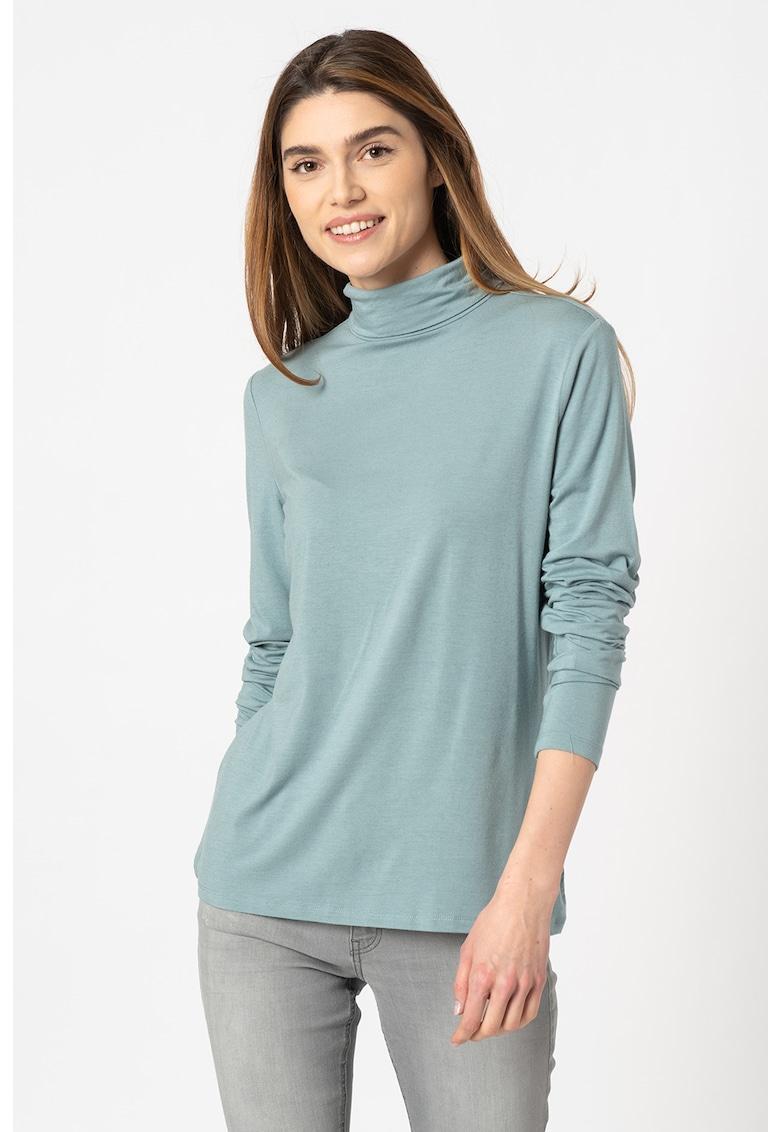 Bluza din amestec de lana cu guler inalt