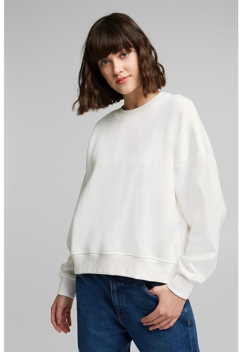 Bluza sport din amestec de bumbac organic cu maneci cazute imagine promotie