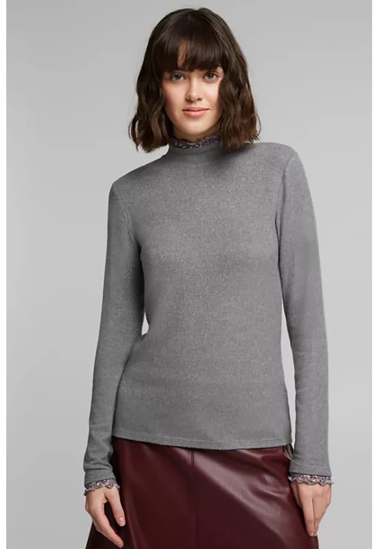 Bluza din amestec de modal cu guler mediu EDC by Esprit fashiondays.ro
