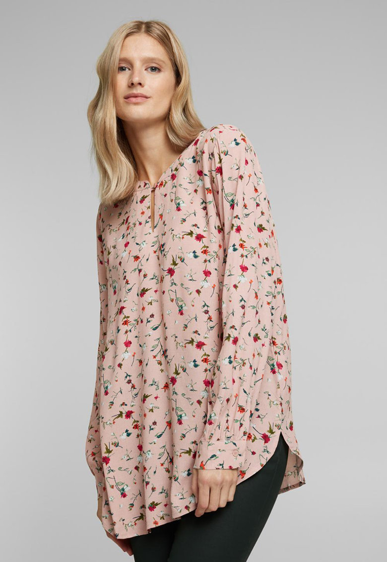 Bluza vaporoasa cu model floral imagine