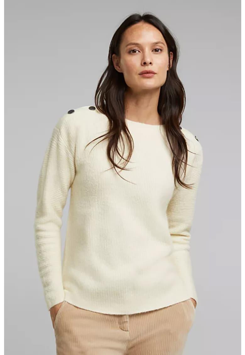 Pulover din amestec de lana cu nasturi decorativi de la Esprit