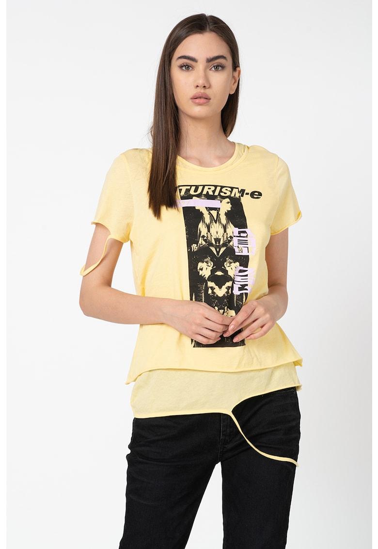 Tricou cu imprimeu foto Emiko