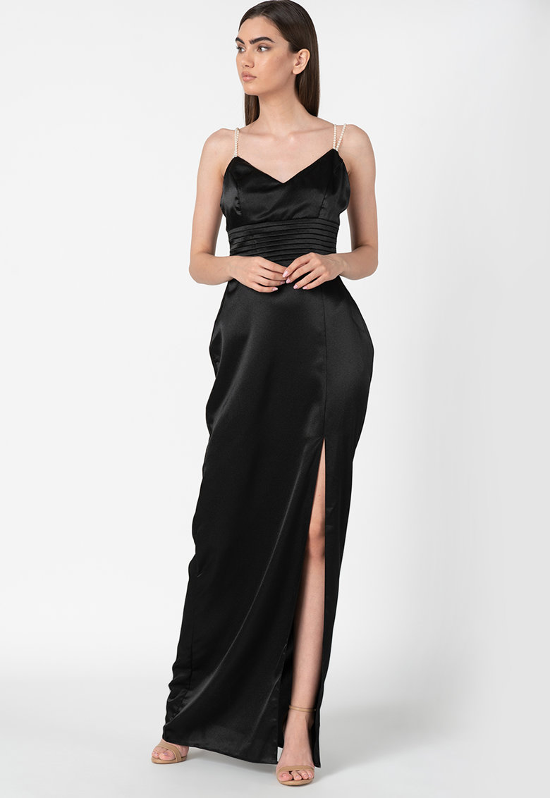 Rochie maxi cu slit lateral imagine promotie