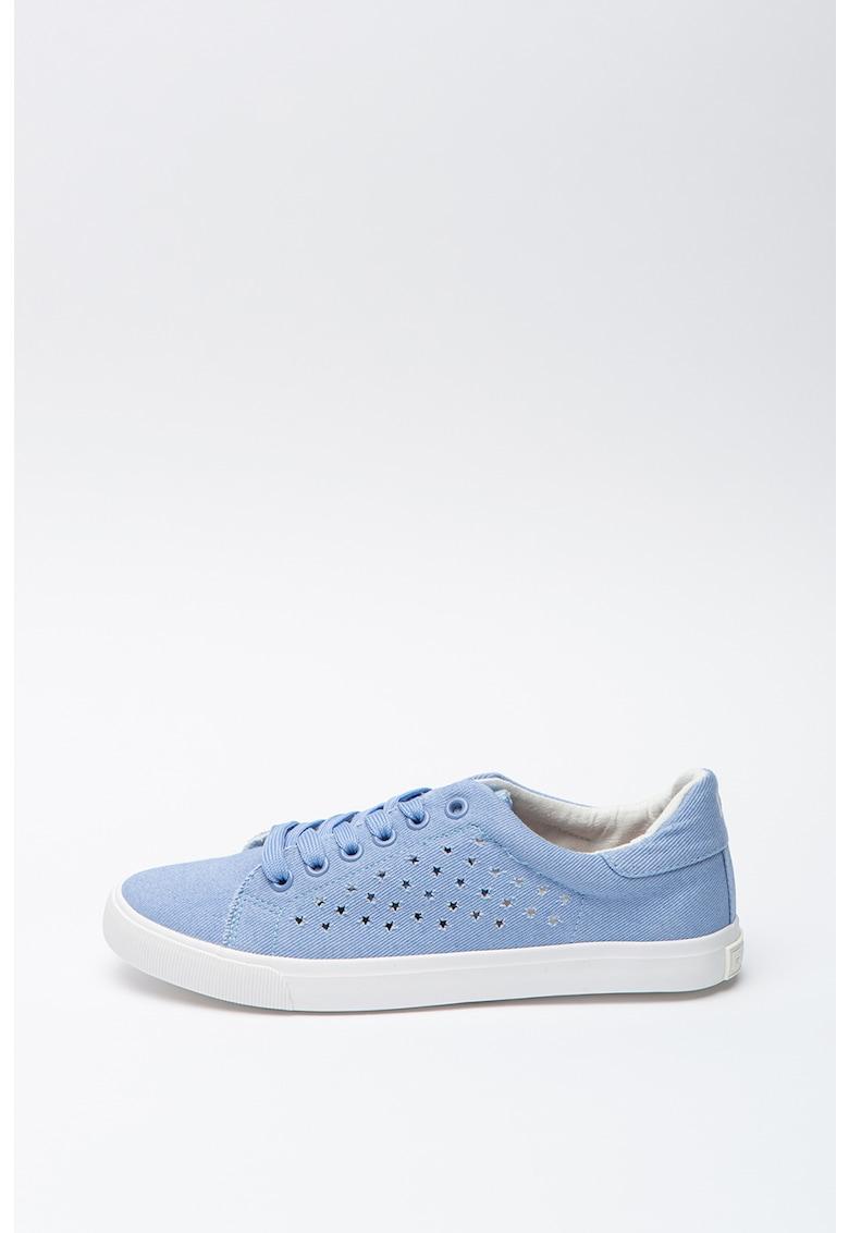Pantofi sport de piele ecologica cu detalii stralucitoare 3