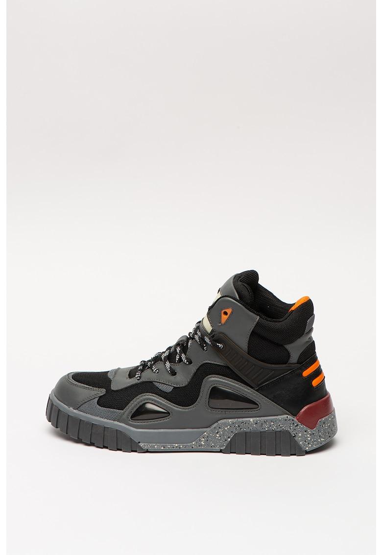 Pantofi sport mid-high cu garnituri de piele Rua