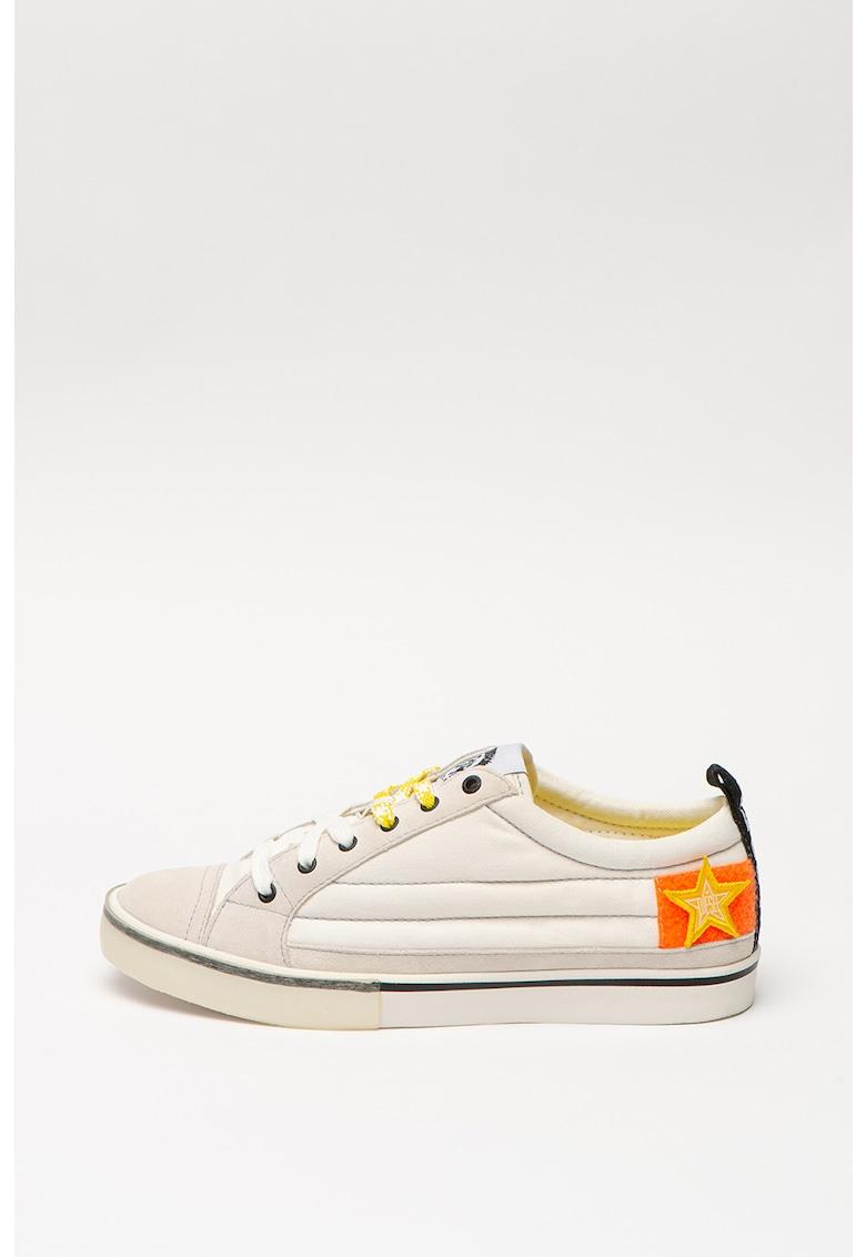 Pantofi sport low-cut cu garnituri de piele intoarsa Velows imagine promotie