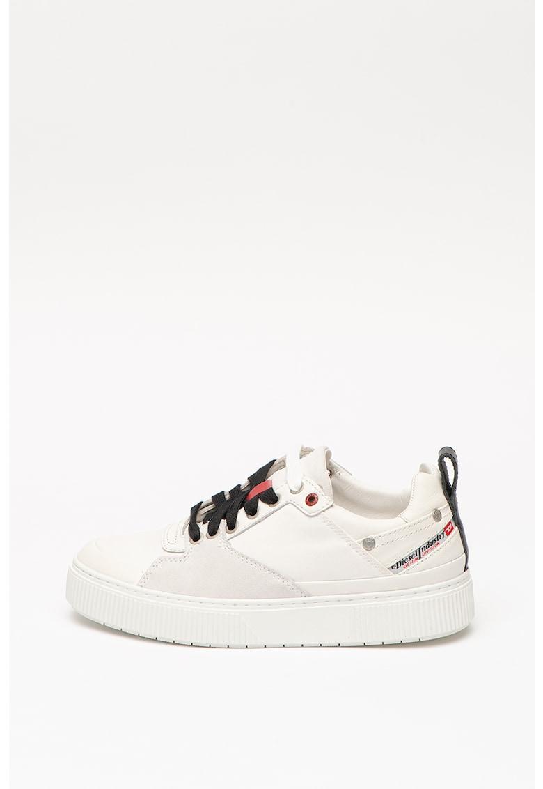 Pantofi sport din piele cu insertii din piele intoarsa ecologica S-Danny imagine promotie