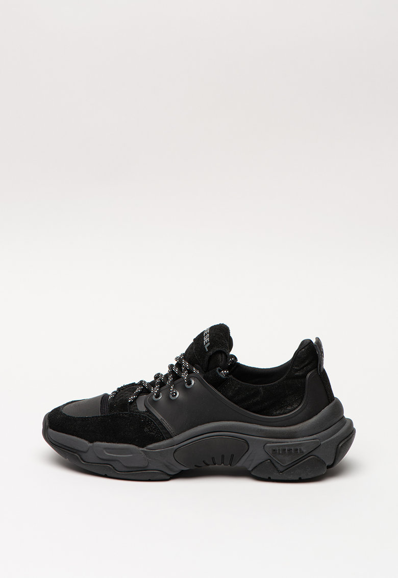 Pantofi sport de piele si material textil Kipper