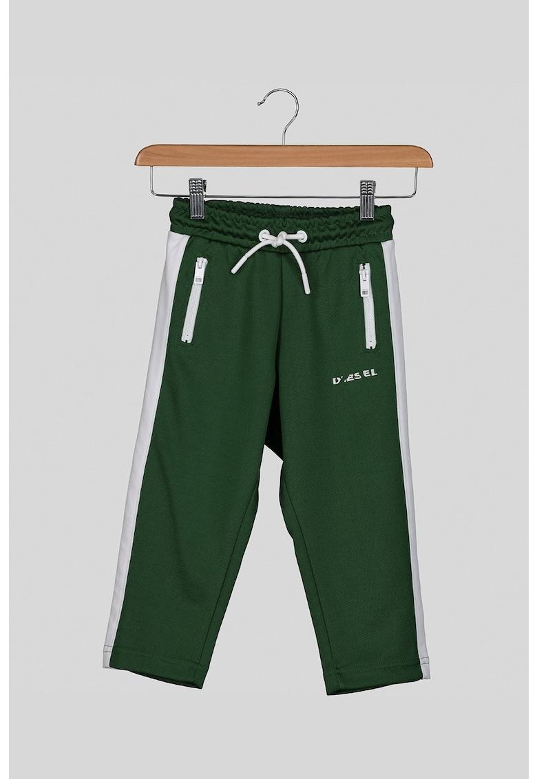 Diesel Pantaloni sport cu benzi laterale contrastante