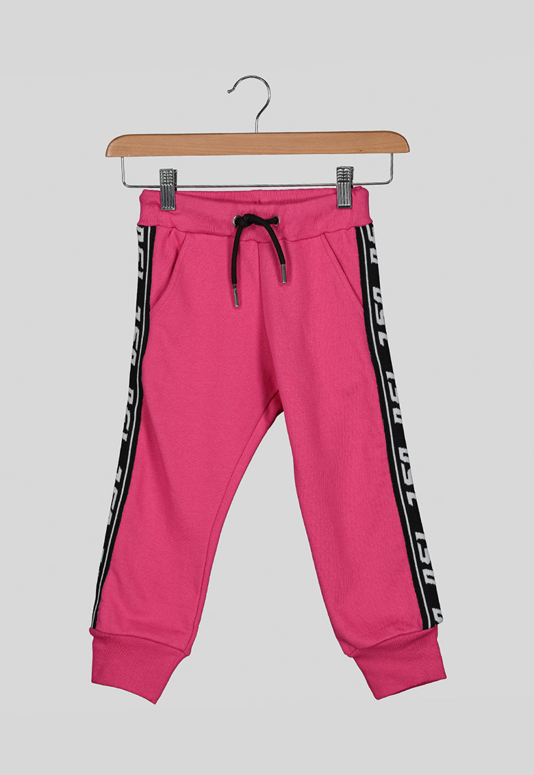 Pantaloni sport cu segmente laterale contrastante poza fashiondays