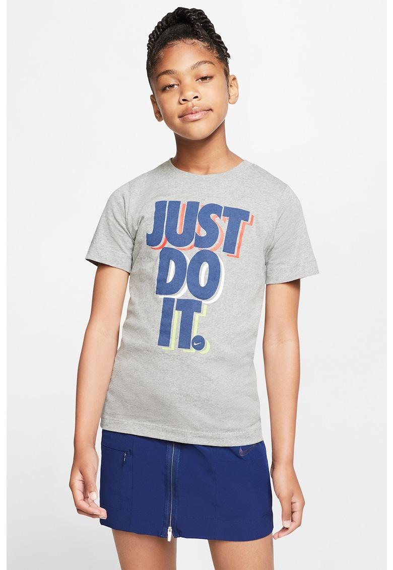 Tricou cu imprimeu text Sportswear