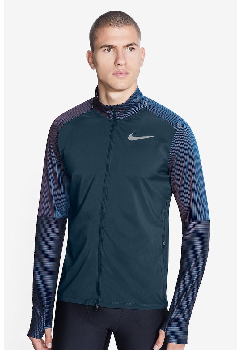 Bluza cu fermoar si fente pentru degetul mare - pentru alergare imagine