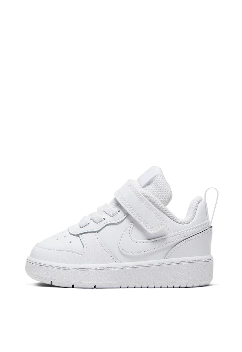 Pantofi sport din piele cu velcro Court Borough imagine fashiondays.ro
