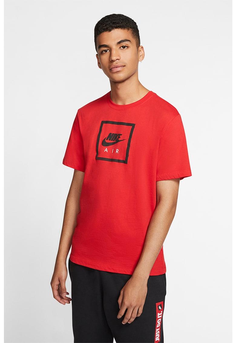 Tricou cu decolteu la baza gatului si imprimeu logo Sportswear de la Nike