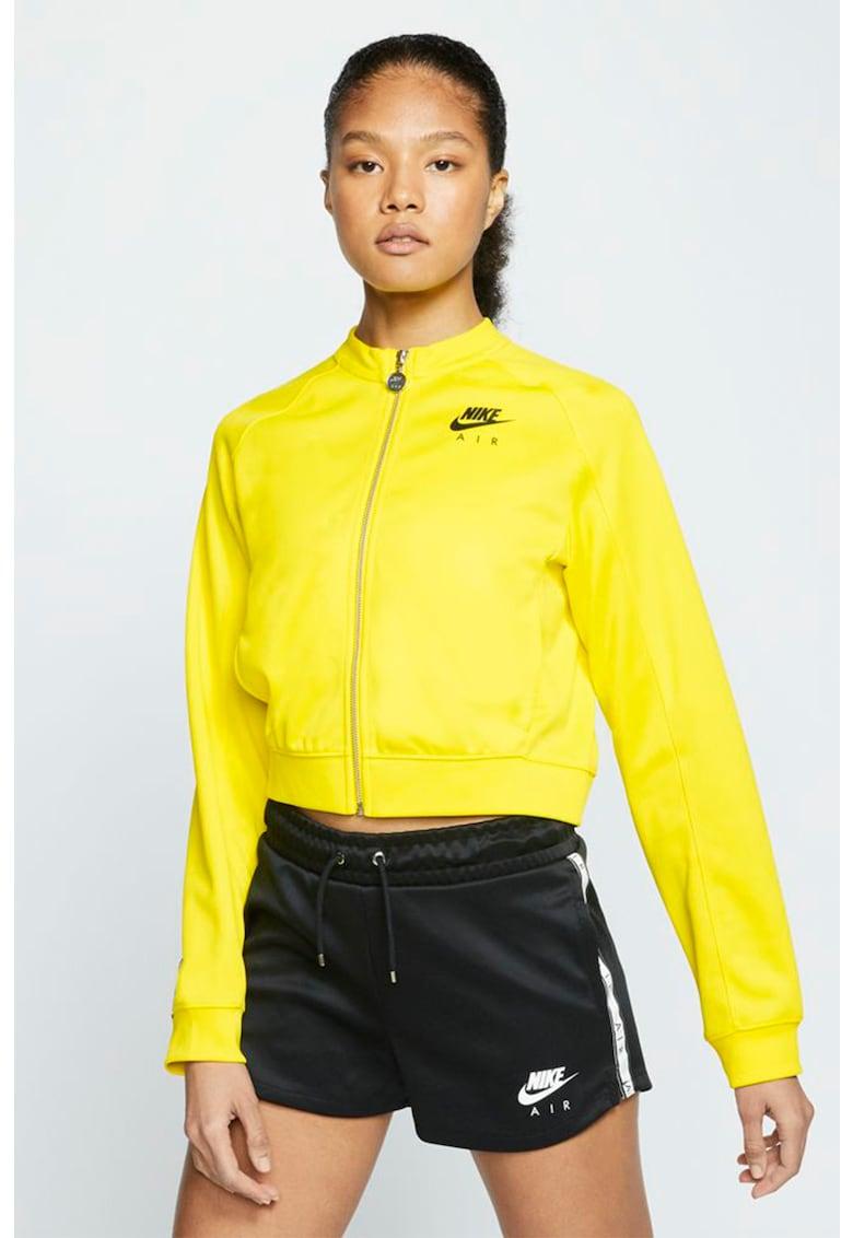 Bluza sport crop cu imprimeu logo Air