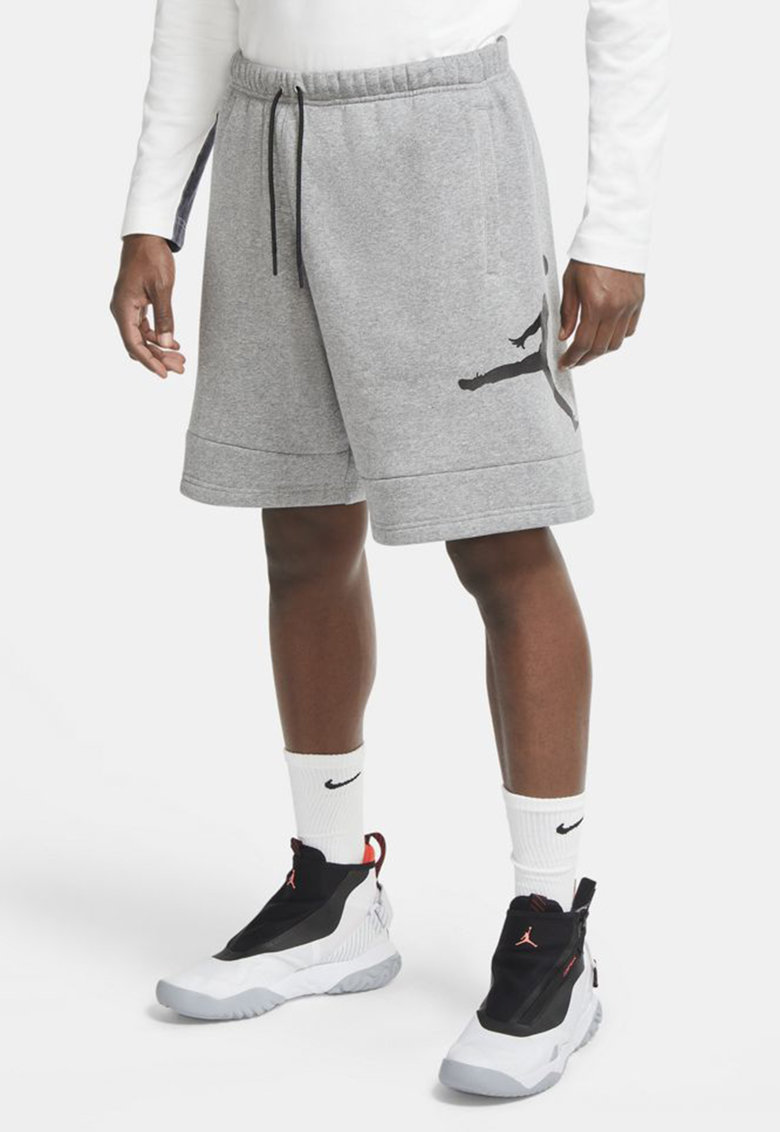 Pantaloni scurti cu imprimeu logo - pentru baschet Jumpman Air Nike fashiondays.ro
