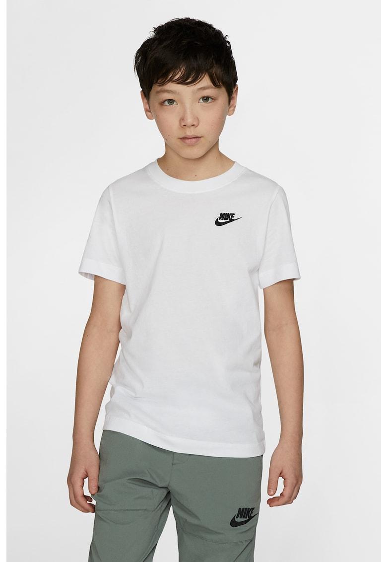 Tricou cu decolteu la baza gatului si logo discret Sportswear imagine fashiondays.ro