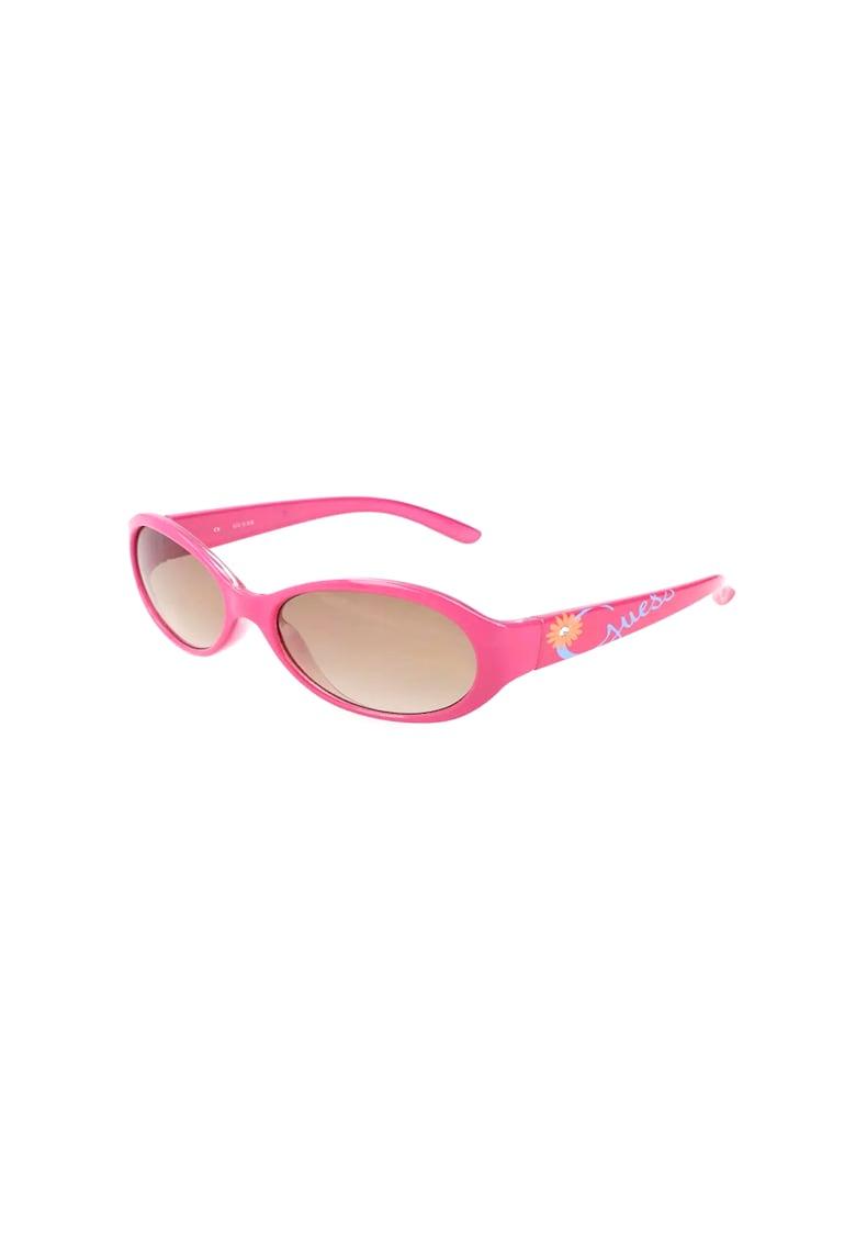 Ochelari de soare ovali - cu imprimeu floral imagine