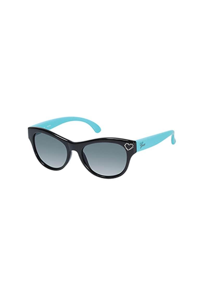 Ochelari de soare polarizati - cu model colorblock si strasuri poza fashiondays